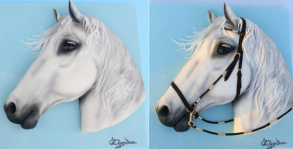 horse cake by Elegateau