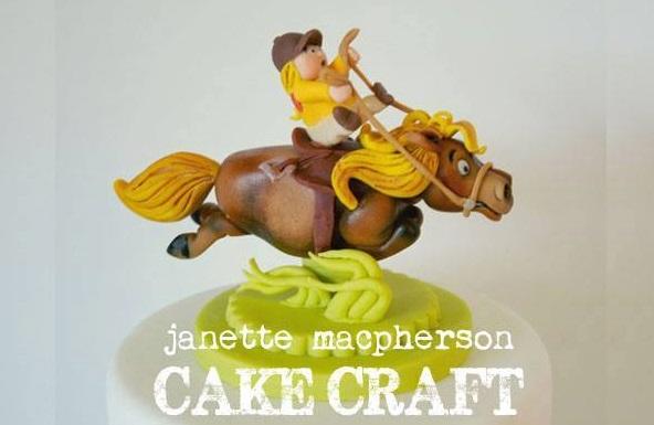 horse cake by Janette MacPherson Cake Craft