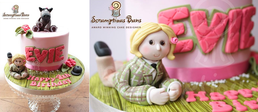 horse cake pony cake by Scrumptious Buns