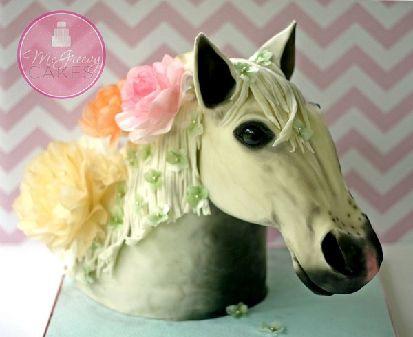 horse's head cake by McGreevy Cakes