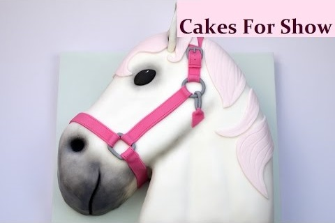 horse's head cake tutorial by Cakes For Show
