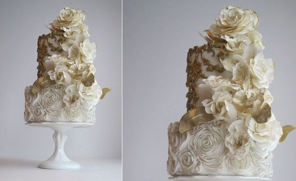 4 vintage wedding cake design by Maggie Austin
