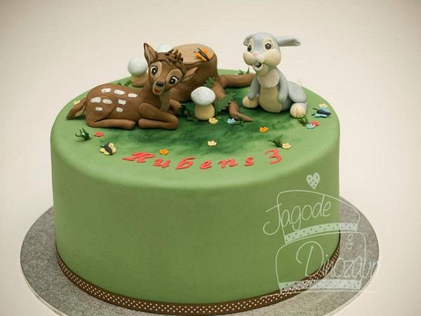 Bambi cake, baby deer cake by TORTE - Jagode in Dinozavri