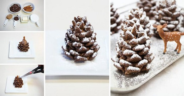 chocolate pine cone tutorial from cupcakepaedia