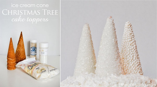 christmas tree cone cake topper tutorial from thecakeblog