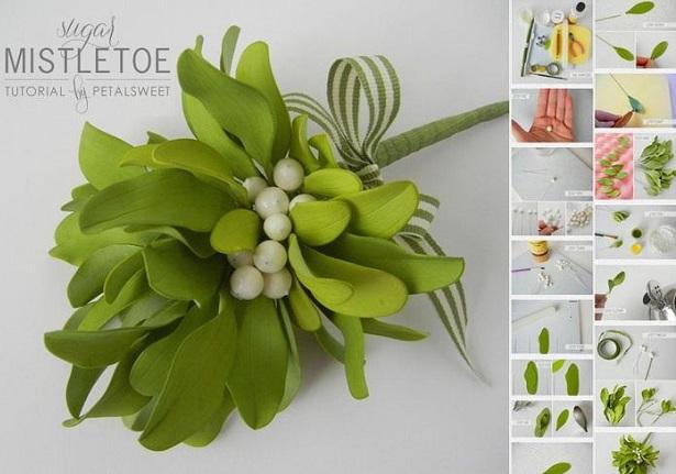 gumpaste mistletoe tutorial by Jacqueline Butler of Petal Sweet