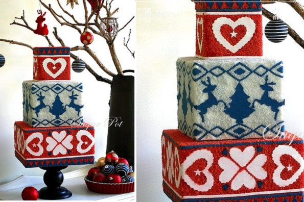 knit effect cake by Sugarpot