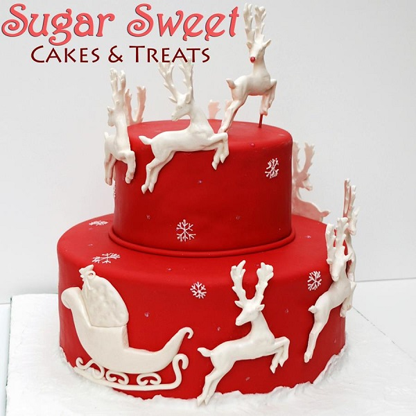 reindeer christmas cake by Sugar Sweets Cakes & Treats