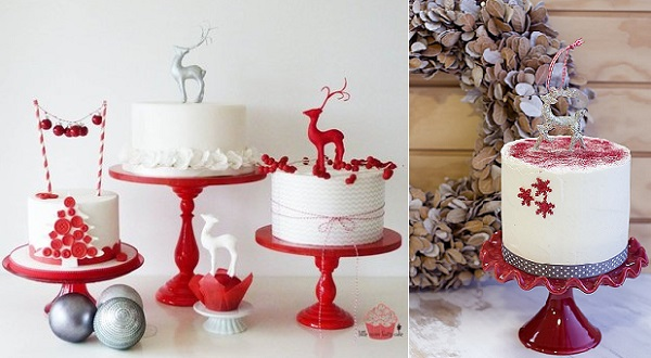 reindeer christmas cakes by Little Miss Fairy Cakes left, Blog Mega Selvita right