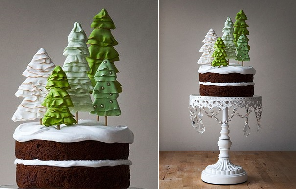 rustic christmas cake by Style Sweet, Canada