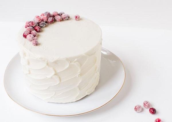 rustic christmas cake winter berries cake frozen berries cake from Bon Appetit