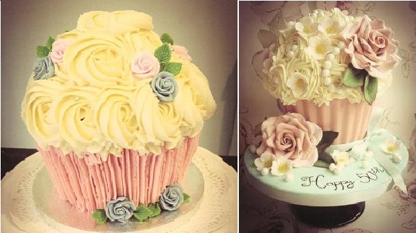 vintage cupcake cakes by the Buttercream Bakery Hinckley