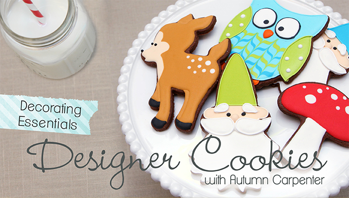 woodland cookies tutorial by Autumn Carpenter on Craftsy