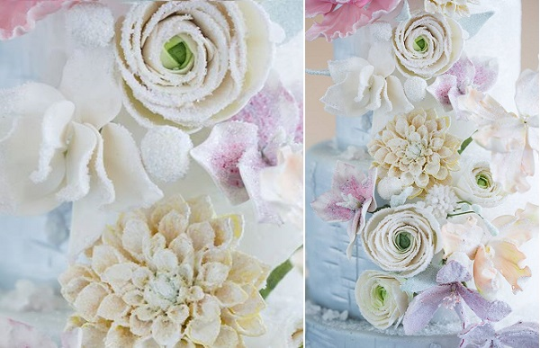 1. frosted sugar flowers by the Wild Orchid Baking Co, Mark Davidson Photography