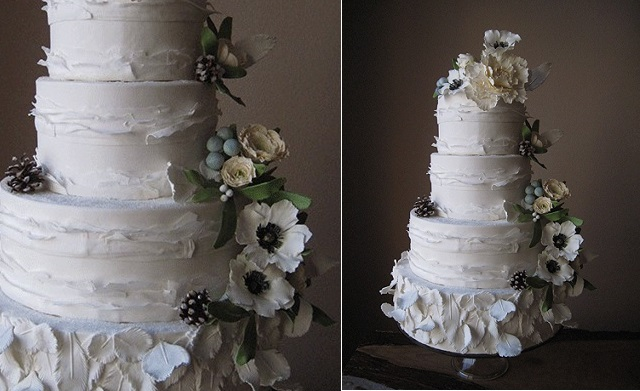 1. winter wedding cake by Megan Joy Cakes