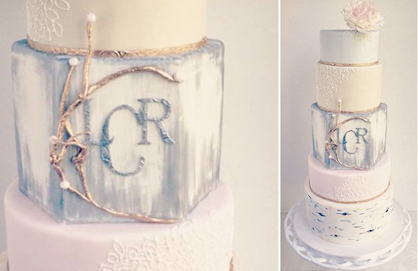 3. birch tree winter wedding cake by The Cake Whisperer, Canada