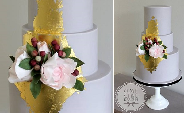4. winter berries wedding cake by Cove Cake Design, Dublin