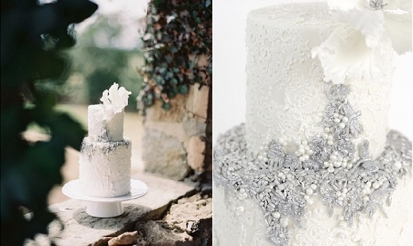 lace wedding cake by Maggie Austin