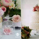 scallop piping cake by Hilary Rose Cupcakes left, image right by Christina Brosnan Photography