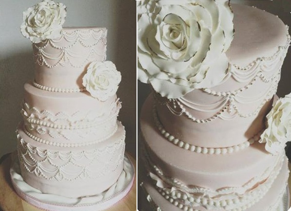wedding cakes made with royal icing scallop piping amp scalloped cake designs cake magazine 24966