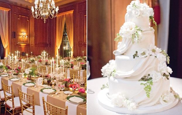 fern wedding cake, image by Aaron Delesie via The Knot.com blog