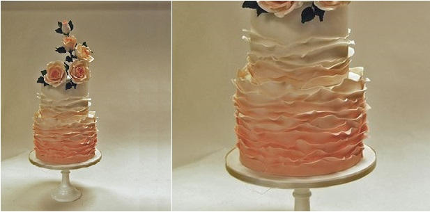 peeling layers wedding cake by Gia's Cakes Boutique