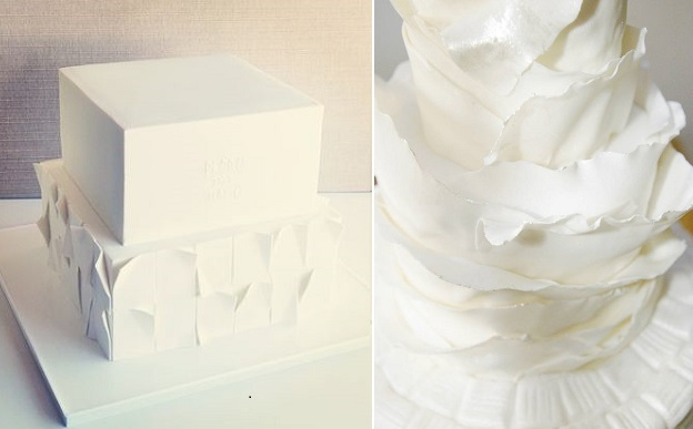 peeling layers wedding cakes by Have Some Sugar, Portugal left, Cakes by Krishanthi right