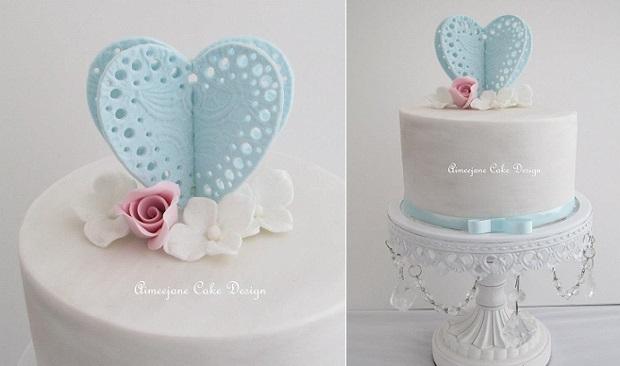 valentines cake by Aimeejane Cake Design