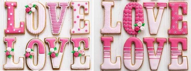 valentines cookies via Piccoli Elfi