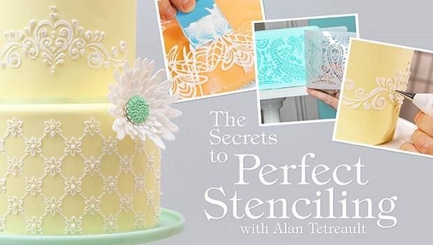 Stencilling tutorial by Alan Tetreault on Craftsy