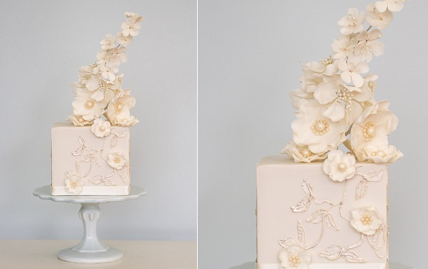 champagne wedding cake by Rosalind Miller Cakes