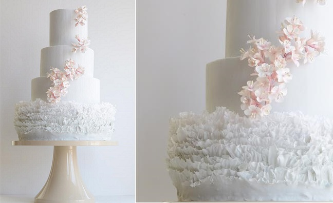 cherry blossom wedding cake by Maggie Austin