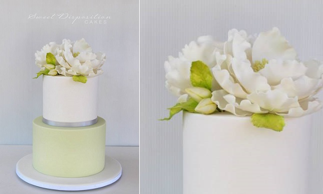 gumpaste buds cake by Sweet Disposition Cakes