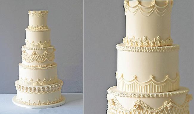 lambeth wedding cake by Abigail Bloom Cakes