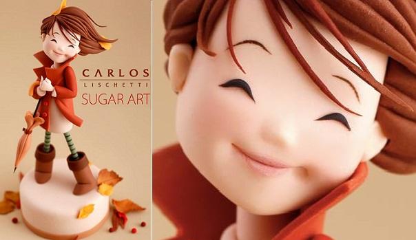 Carlos Lischetti sugar model dressed for autumn
