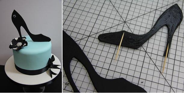 2D shoe cake topper tutorial