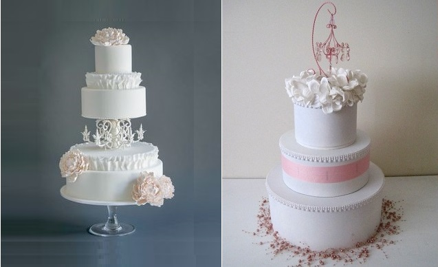 chandelier cake topper from Etsy.com right, chandelier style cake via Pinterest right