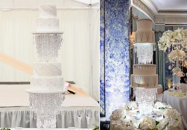chandelier wedding cakes by Elizabeth's Cake Emporium UK