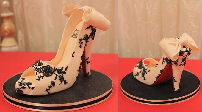 gumpaste high heels lace stilettos by Elegateau
