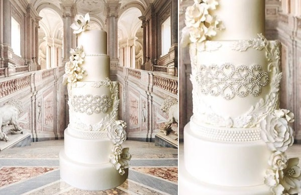 lace frame wedding cake design by The White Cakery, A Division of Connie Cupcake