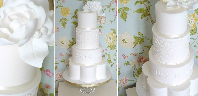 petal shaped wedding cake by The Designer Cake Company, UK