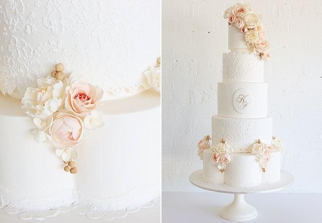 petal shaped wedding cake tier by Sweet Bloom, Australia (image Leanne Ambrogio, Sweet Style)