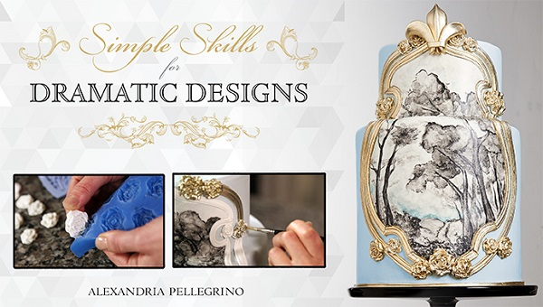 Baroque style cake decorating tutorials with Alexandria Pellegrino on Craftsy