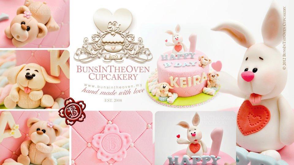 baby bunny cake 1st birthday cake by Sheryl Bito