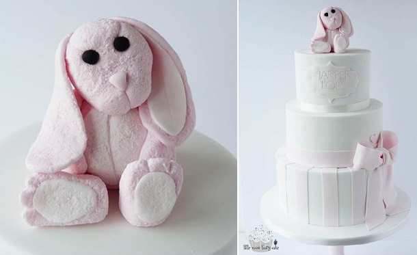 bunny rabbit cake by Little Miss Fairy Cake