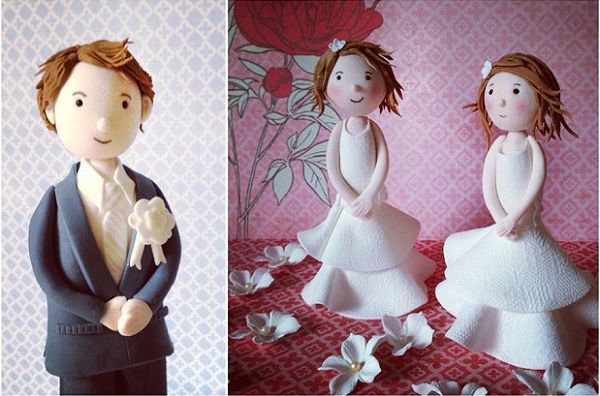 communion cake toppers boys and girls by The Artful Bakery