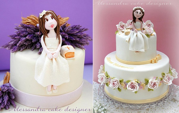 communion cakes for girls by Alessandra Frisoni