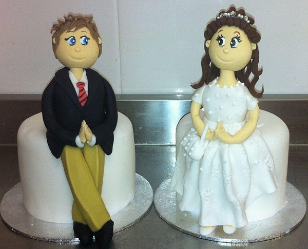communion girl cake topper, confirmation boy cake topper by The Cake Lady Sligo