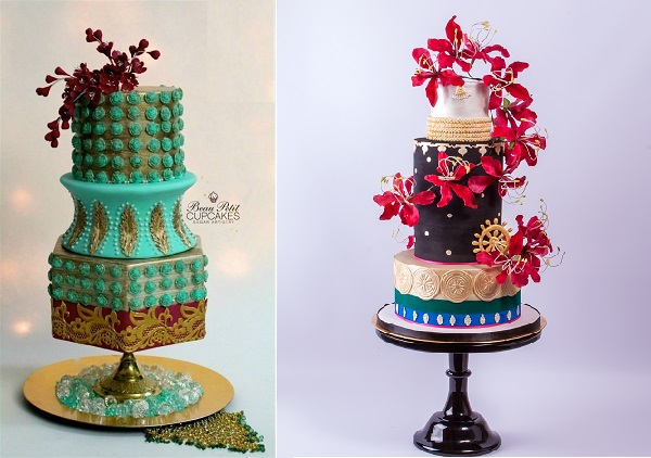 Beau Petit Cupcakes left, The Enchanting Merchant Cake Company right