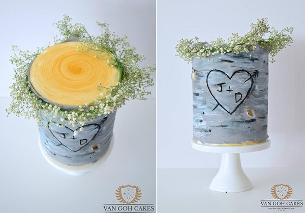 birch tree cake by Van Goh Cakes